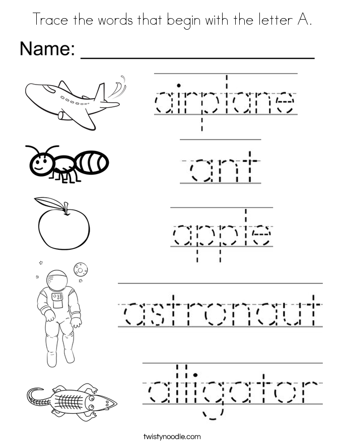 coloring pages of things that start with the letter a coloring pages