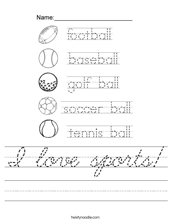 I love sports! Worksheet