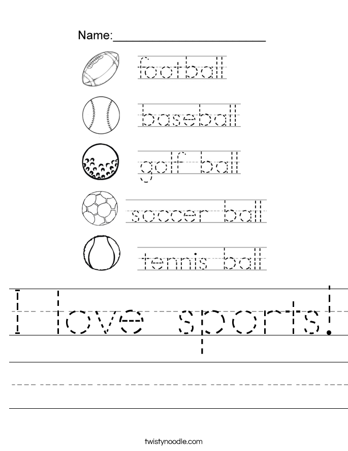 I love sports! Worksheet