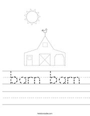 Trace the Barn Worksheet