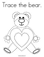 Trace the bear Coloring Page
