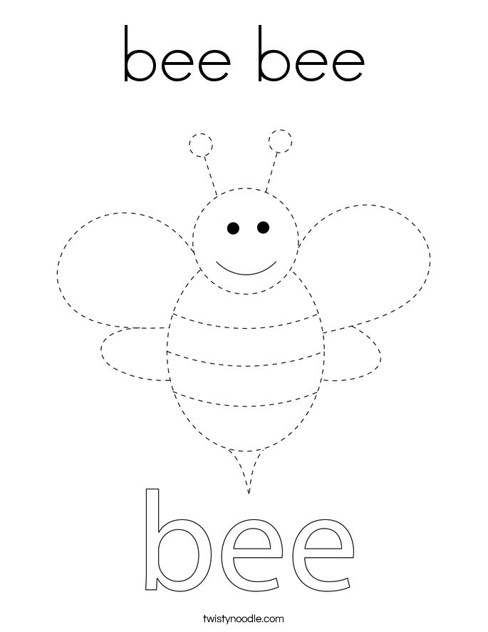bee bee Coloring Page