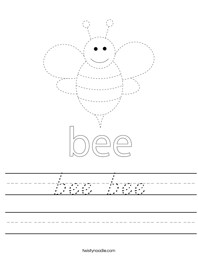 bee bee Worksheet