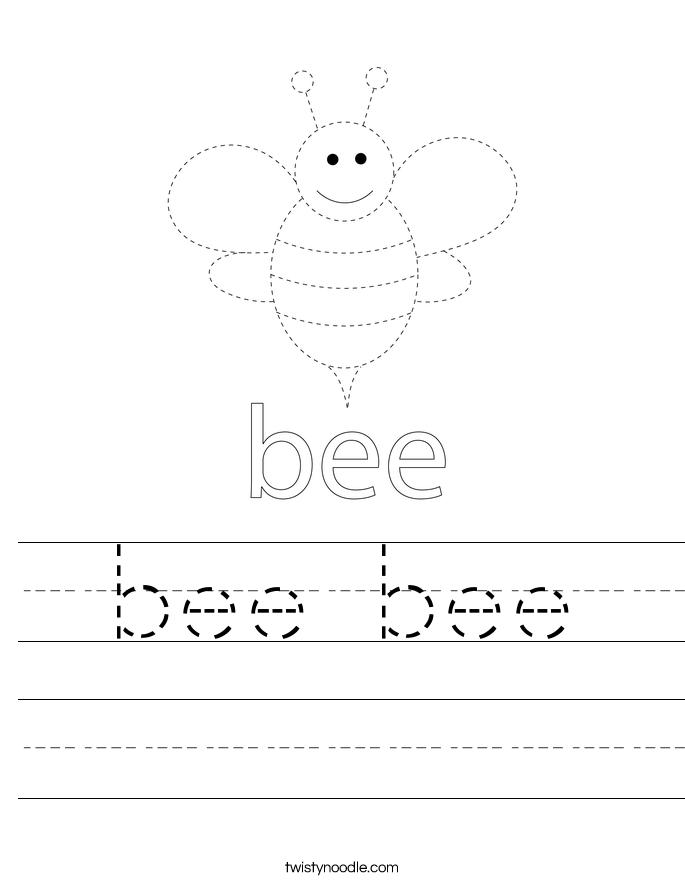 bee bee Worksheet