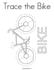 Trace the Bike Coloring Page