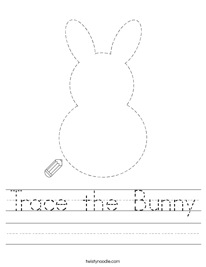 Trace the Bunny Worksheet