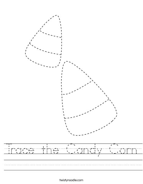Trace the Candy Corn Worksheet