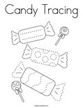 Candy Tracing Coloring Page
