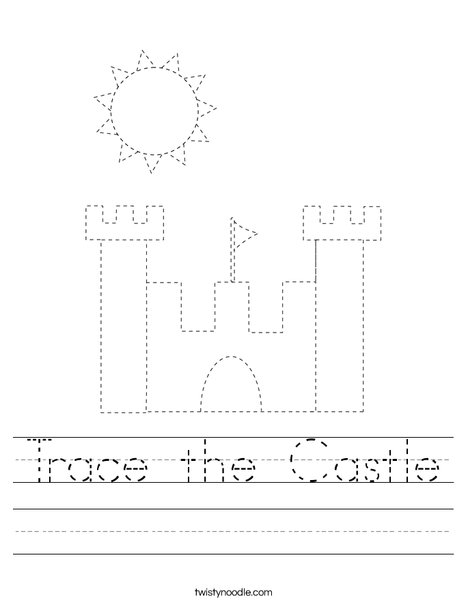 Trace the Castle Worksheet