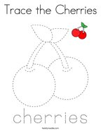 Trace the Cherries Coloring Page