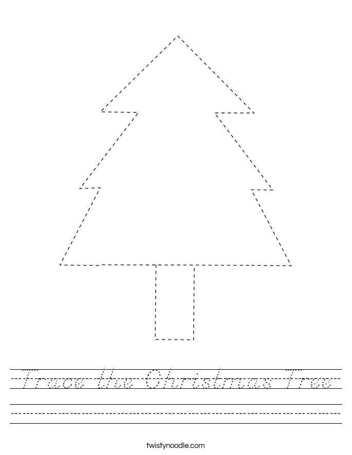 Trace the Christmas Tree Worksheet
