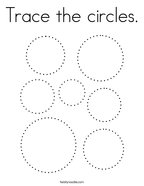 Trace the circles Coloring Page