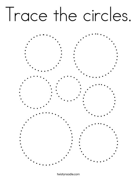 Trace the circles. Coloring Page