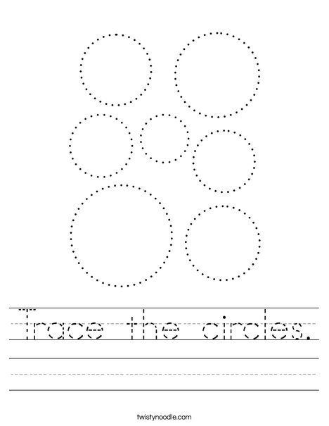 Trace the circles. Worksheet