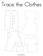 Trace the Clothes Coloring Page