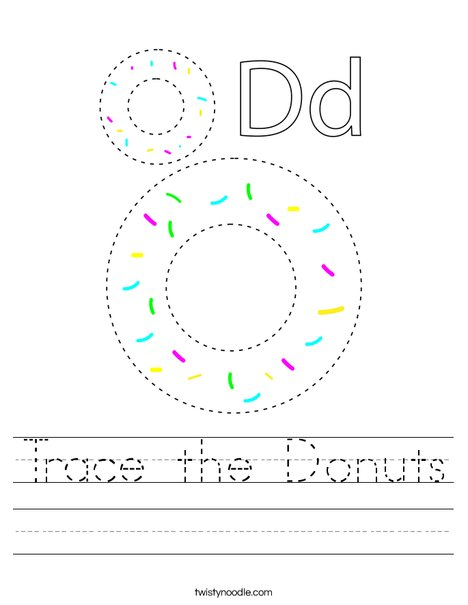 Trace the Donuts Worksheet