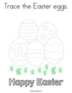 Trace the Easter eggs Coloring Page