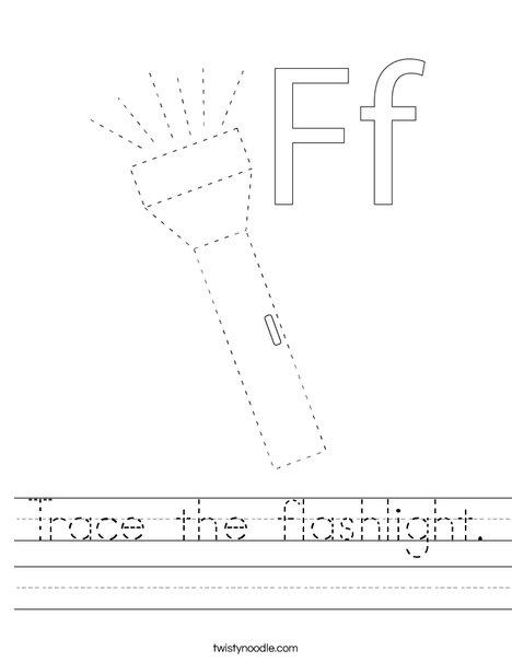 Trace the flashlight. Worksheet