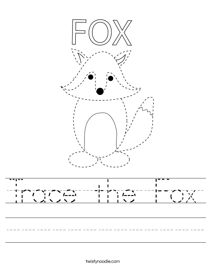 Trace the Fox Worksheet