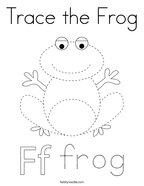 Trace the Frog Coloring Page