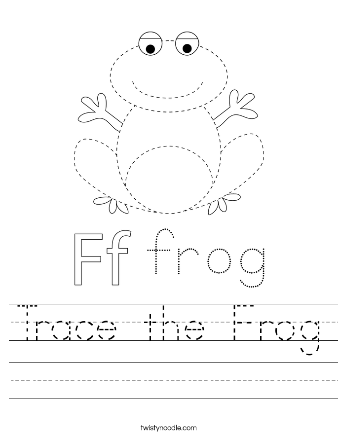 Trace the Frog Worksheet