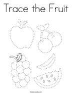 Trace the Fruit Coloring Page