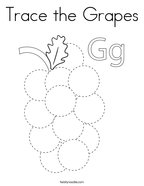 Trace the Grapes Coloring Page