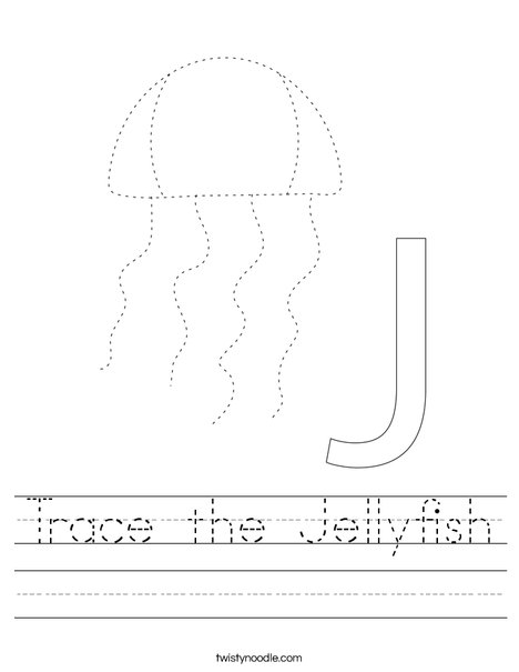 Trace the Jellyfish Worksheet