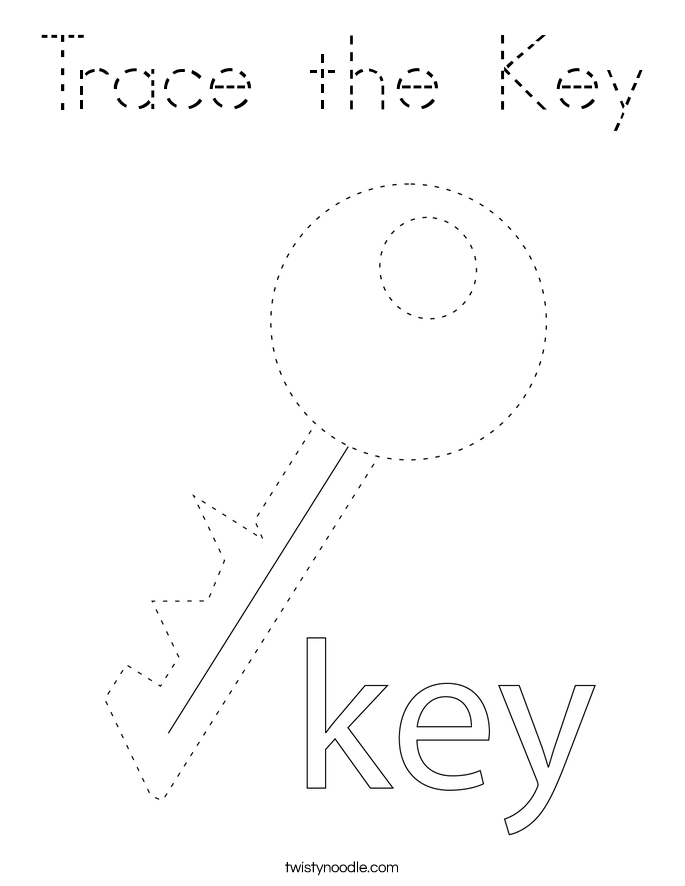 Trace the Key Coloring Page