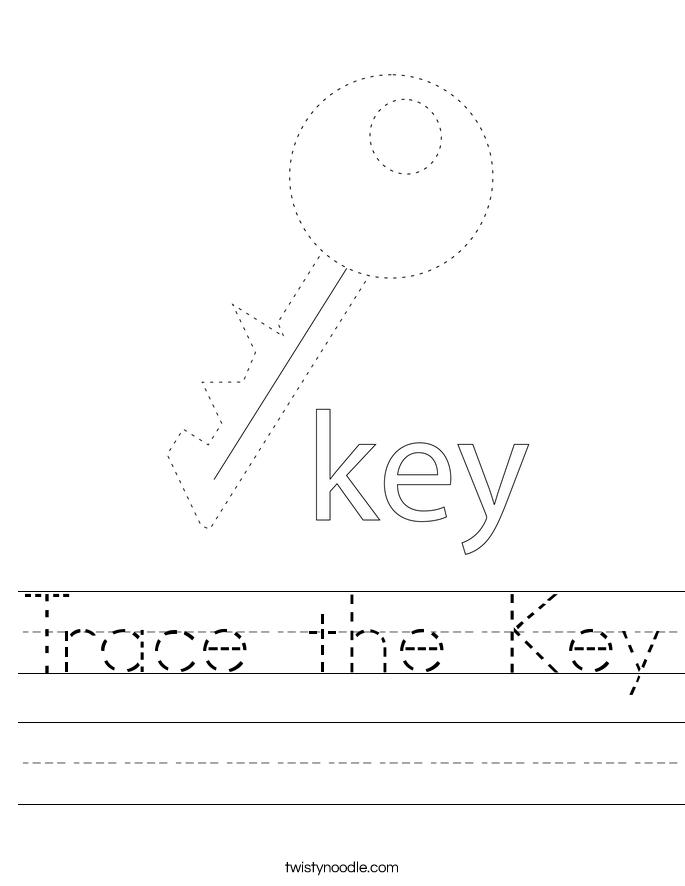 Trace the Key Worksheet