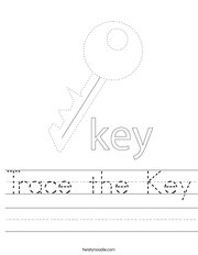 Trace the Key Handwriting Sheet