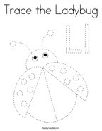 Trace the Ladybug Coloring Page