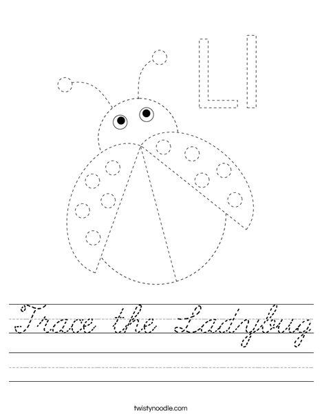Trace the Ladybug Worksheet