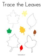 Trace the Leaves Coloring Page