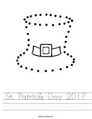 Trace the leprechaun hat. Worksheet