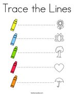 Trace the Lines Coloring Page