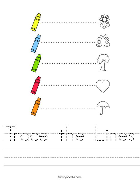 Trace the Lines Worksheet