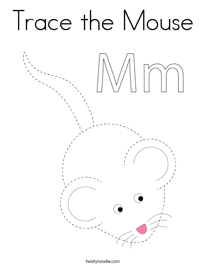 Trace the Mouse Coloring Page
