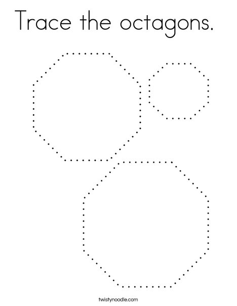 Trace the octagons. Coloring Page