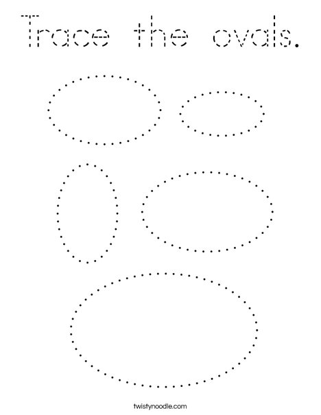 Trace the ovals. Coloring Page