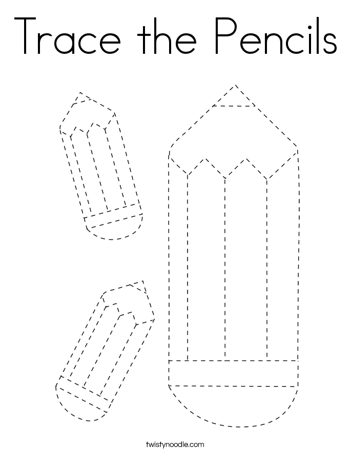 Trace the Pencils Coloring Page