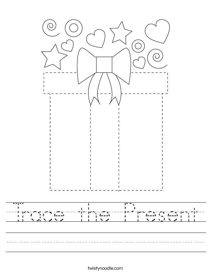 Trace the Present Worksheet