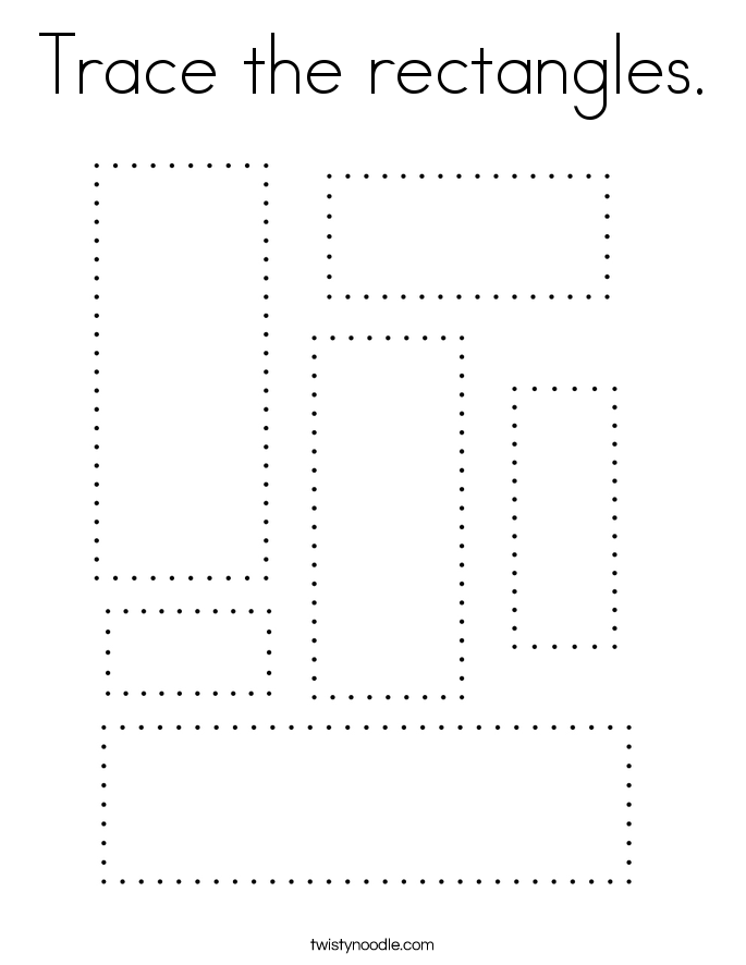 Trace the rectangles. Coloring Page