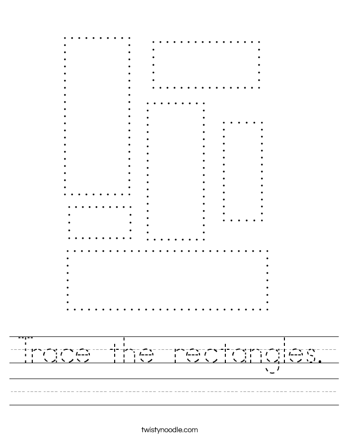 Trace the rectangles. Worksheet