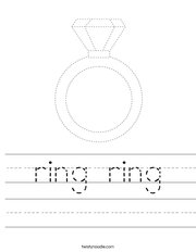 Trace the Ring Worksheet