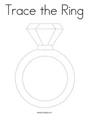 Trace the Ring Coloring Page