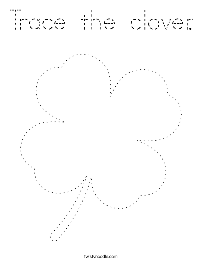 Trace the clover. Coloring Page
