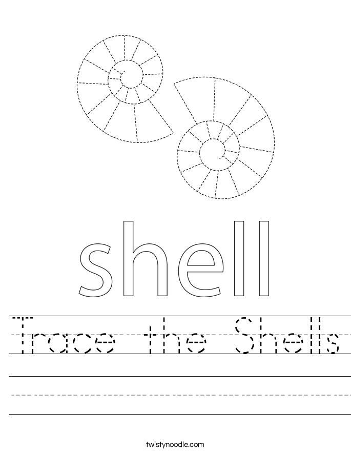 Trace the Shells Worksheet