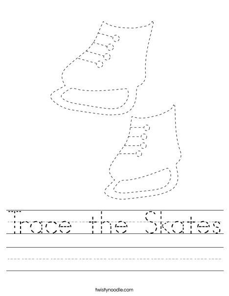 Trace the Skates Worksheet