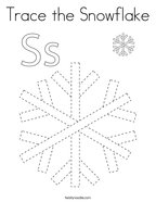 Trace the Snowflake Coloring Page